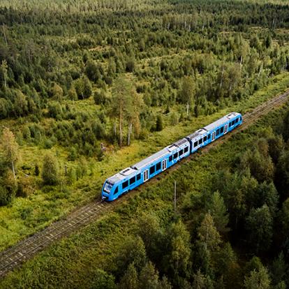 Premiär för vätgaståg i Sverige och på Inlandsbanan