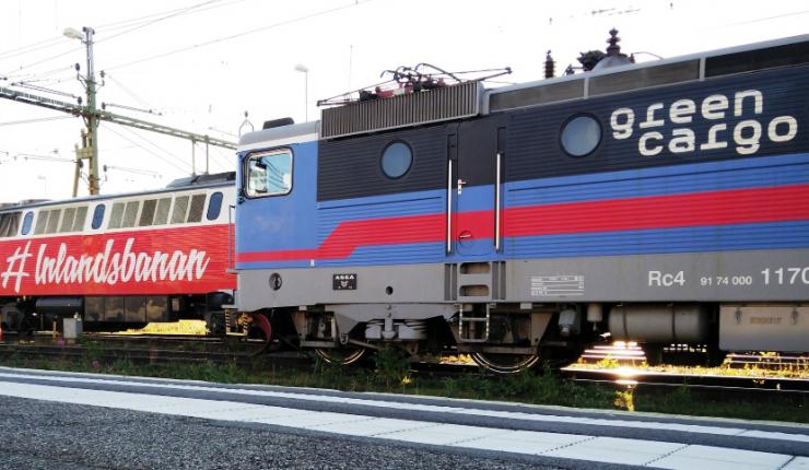 Lok Green Cargo och Inlandståg